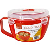 Rapid Soup Mug | Microwave Soup & Noodles in Minutes | Perfect for Dorm, Small Kitchen, or Office | Dishwasher-Safe, Microwav