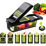 DLD Onion Chopper Pro Vegetable Chopper - Strongest Heavier Duty Vegetable Slicer Dicer Cutter with Container and Blades