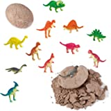 Dino Eggs Excavation Set of 12 Dinosaurs Fossil Dig Up Kit for Bday Party Favors Archaeology Science STEM Gift (Dinosaur Dig