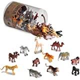 "Battat AN6004Z Terra Wild Animals in Tube Action Figure Set, 3.5"""", Multi"