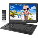 15.6 inch Portable DVD Player for Car with Games Function for Kids USB/SD Slot (Black)