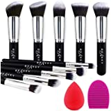 BEAKEY Makeup Brush Set Premium Synthetic Kabuki Foundation Face Powder Blush Eyeshadow Brushes Makeup Brush Kit with Blender