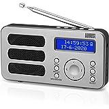 Portable DAB Radio - August MB225 - DAB/DAB +/FM - RDS Function, 40 Presets, Stereo/Mono Portable Digital Radio, Dual Alarm,
