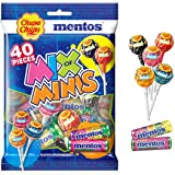 Chupa Chups Mix of Minis Bag, 40 Lollipops & Mini Rolls