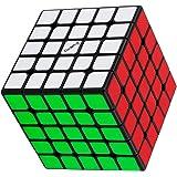 Valk 5M 5x5 Magnetic Magic Cube 魔方 立体パズル 【磁石内蔵】競技専用 【日本語6面完成攻略書・専用スタンド付き】 脳トレ ポップ防止 高級者向け魔方 プレゼント