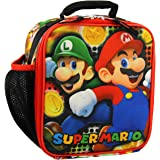 Super Mario Bros Boy's Girl's Soft Insulated School Lunch Box (One Size, Red/Multi)