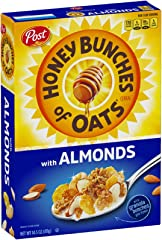 Post Honey Bunches of Oats with Almonds Whole Grain Cereal, 411g