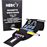 Magnetic Wristband Tool Holder Set-Handyman Bracelet Tools Adjustable with Strong Magnets Unique Gadget Ballpoint Tool Pen an