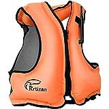 Rrtizanライフジャケット インフレータブル ベストタイプ シュノーケリング 用 フローティングベスト 膨張式 救命胴衣 超浮力 大人用 …