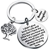 FUSTMW Adoption Gifts Keychain Adopted Child Gifts Stepdaughter Stepson Gifts from Stepmom Stepdad Adoption Jewelry You Will