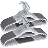 """TIMMY Plastic Hangers 50 Pack Heavy Duty Dry Wet Clothes Hangers with Non-Slip Pads Space Saving 0.2"""" Thickness Super Lightwe"""