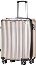 OTT スーツケース 超軽量 TSAロック搭載 ファスナータイプ
