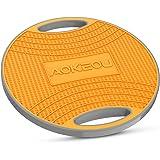 AOKEOU バランスボード ダイエット 体幹トレーニング用 滑り止め 360度回転 フィットネス トレーニング 筋トレヨガ 運動不足も対応 ストレッチ器具