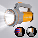 Super Bright 35W Handheld Searchlight USB Rechargeable Cree LED Spotlight Flashlight Large 4 Batteries 10000mah High Lumens P