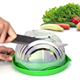 Salad Cutter Bowl Upgraded Easy Salad Maker by WEBSUN, Fast Fruit Vegetable Salad Chopper Bowl Fresh Salad Slicer FDA-Approve