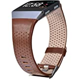 CAGOS Compatible Fitbit Ionic Bands Perforated Leather Accessory Band Strap Replacement Wristband for Fitbit Ionic Women Men