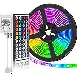 SUPERNIGHT (TM) 16.4FT SMD 5050 Waterproof 300LEDs RGB Flexible LED Strip Light Lamp Kit + 44Key IR Remote Controller(Power S