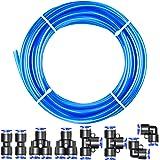 Tailonz Pneumatic Blue 3/8 Inch od 10 Meters PU Air Tubing Kit Pipe Hose Air Line Tubing Or Fluid Transfer Pneumatic tubing (