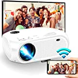 """Wireless WiFi Projector 3800L,WEILIANTE 2020 Upgraded Mini Video Projector, Support 50,000Hrs, 200"""" Display, Full HD 1080P, C"""