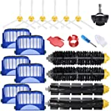 JoyBros 19 Pack Replacement Parts Accesories Compatible for iRobot Roomba 675 670 665 690 692 671 677 650 655 614 ONLY,Bristl