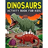 Dinosaurs Activity Book For Kids: Coloring, Dot to Dot, Mazes, and More for Ages 4-8
