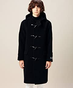 Cut Pile Wool Duffle Coat 1225-139-7160: Navy