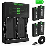 Xbox One Rechargeable Battery Packs 4 x 2500mAh Nimh Xbox Accessories Rechargeable Controller Battery and Xbox Charging Compa