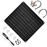 TP-solar 20 Watt 12 Volt Solar Trickle Charger 20W 12V Solar Panel Car Battery Charger Portable Solar Battery Maintainer + Ci