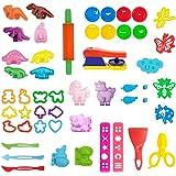 Play Dough Tools for Kids,46piece,Various Animal Molds, Playdough Set Accessories Molds Including Dinosaur,Unicorn, Puppy,Fox