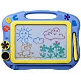 ikidsislands IKS85B [Travel Size] Color Magnetic Drawing Board for Kids, Doodle Board for Toddlers, Sketch Pad Toy for Little