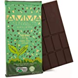 AMMA Organic Dark Chocolate - 75% Cacao With Cacao Nibs - Delicious Keto Snack, Low Carbs but Rich in Healthy Fats and Antiox