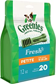 Greenies Freshmint Dental Treat for Petite Dog 340 g, 12 oz