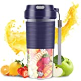 SZMDLX Portable Blender, Cordless Mini Personal Blender USB Rechargeable Smoothie Juicer Cup, 300mL Waterproof Fruit Mixing M