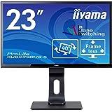 マウスコンピューター iiyama モニター ディスプレイXUB2390HS-B5(23型/AH-IPS方式ノングレア非光沢/広視野角/フレームレス/昇降ピボットスウィーベルティルト/1920x1080/HDMI,DVI-D,D-Sub, HDCP機