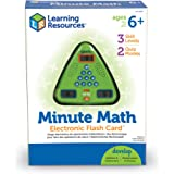 "Learning Resources LER6965 Minute Math Electronic Flash Card,5"" x 5"",Multi/None"