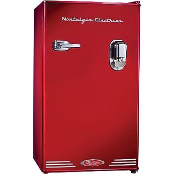 Nostalgia Electrics インテリア冷蔵庫(レッド) -Refrigerator- [並行輸入品]