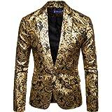Cloudstyle Mens Floral Blazer 1 Button Paisley Party Dinner Wedding Dress Suit Jacket