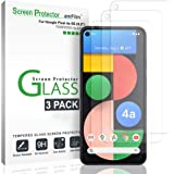 amFilm (3 Pack) Screen Protector for Google Pixel 4a 5G (6.2 Inch), Case Friendly (Easy Install) Tempered Glass Film (2020)