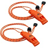 LuxoGear Emergency Whistles Safety Lifeguard Whistle Survival Shrill Loud Blast with Lanyard for Kids Kayak Life Vest Jacket