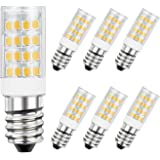 DiCUNO E14 LED Light Bulb 4W 40W Halogen Bulb Equivalent 220V Warm White 3000K 400 Lumen Non-dimmable 6-Pack
