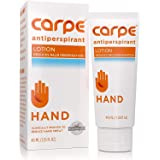 Carpe Antiperspirant Hand Lotion, A dermatologist-recommended, non-irritating, smooth lotion that helps stops hand sweat, Gre
