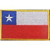 ShowPlus Chile CL Flag Military Embroidered Tactical Patch Morale Shoulder Applique