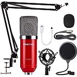 ZINGYOU Condenser Microphone Bundle, ZY-007 Professional Cardioid Studio Condenser Mic Include Adjustable Suspension Scissor