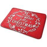 YINCHAOJI Bathroom Rugs Bath Mat Door Mats Happy Christmas Jubilant Torse Memory Foam Front Kitchen Rug Carpet for Kitchen Ha