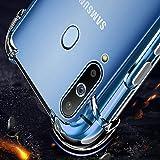 Junhou for Samsung Galaxy A20 Soft Gel Clear Transparent Shockproof TPU Thin Slim Case Cover (Clear)