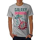 Wellcoda 銀河 インベーダー 男性用 S-5XL Tシャツ