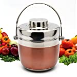 BOQUN Lunch Box Portable Stainless Steel Food Storage Container Meal Prep Thermal Box with Handle Insulation Barrel 2 Layers