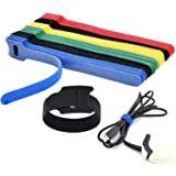 Cable Straps Reusable Fastening Cable Ties Microfiber Cloth Cable Strips Adjustable Multipurpose Securing Wire Organizer Cord