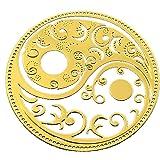 RELIGHT タオマーク 八卦 太極図 金属 ステッカー シール ゴールド (3cm(3枚))