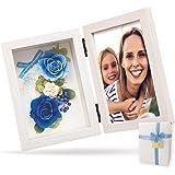 【 リリスエピス 】 liLYS épice プリザーブドフラワー フォトフレーム 写真立て 母の日 ギフト プレゼント日本製 ( ホワイトフレーム エターナルブルー ) pp2bl